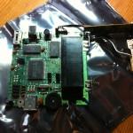Platine mit CPU und Modulaufnahme