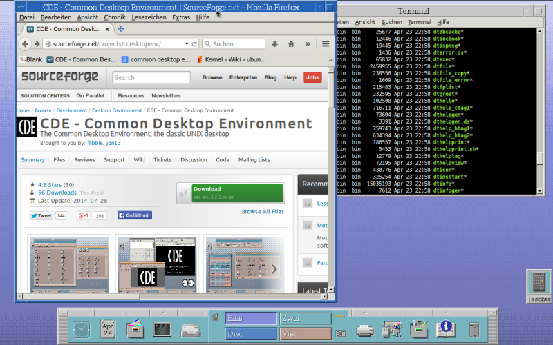 CDE - The Common Desktop Environment, the classic UNIX desktop