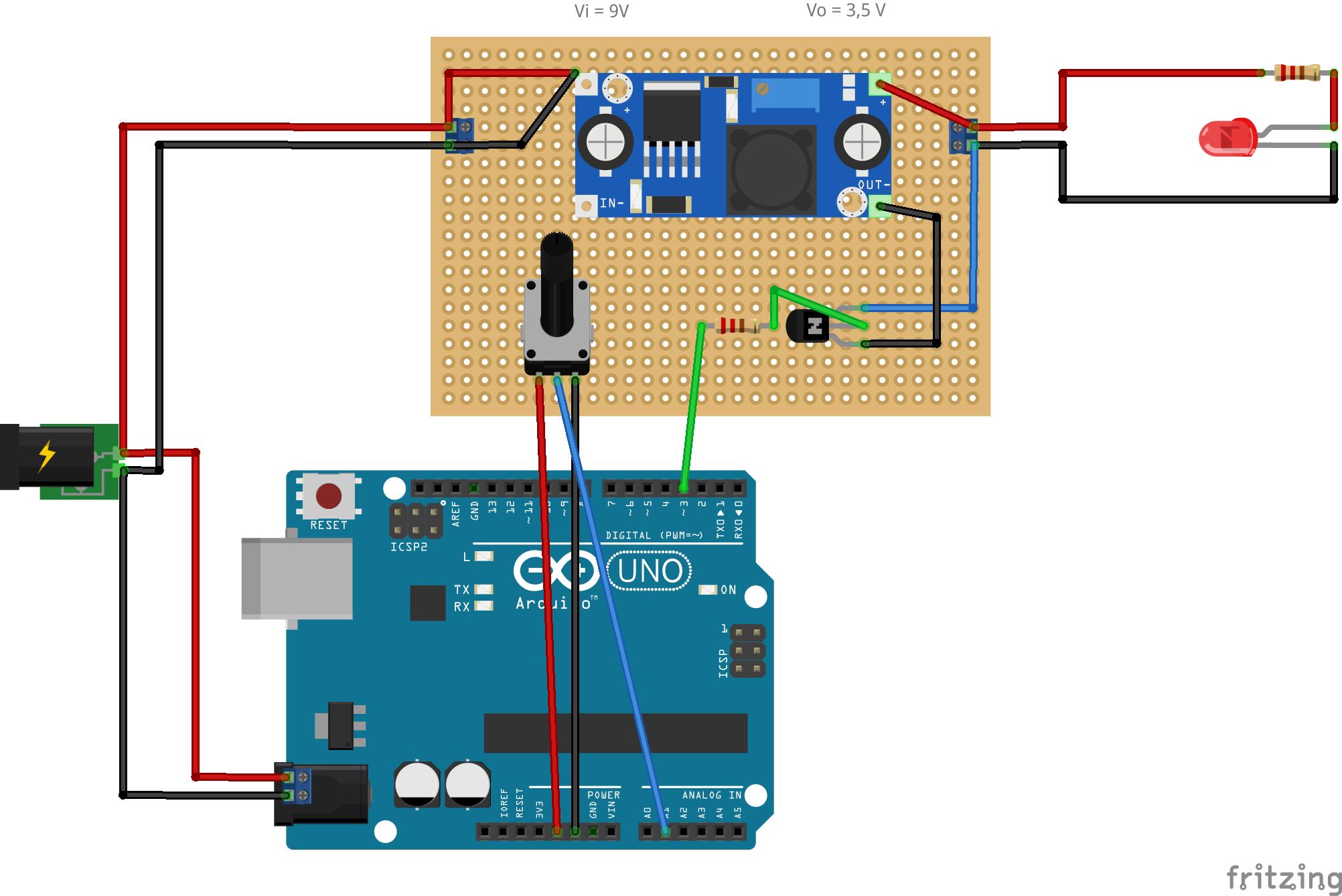 Arduino-Dimmer-Lichterkette-PWM_Steckplatine Erstaunlich Led Lichterkette 12 Volt Dekorationen
